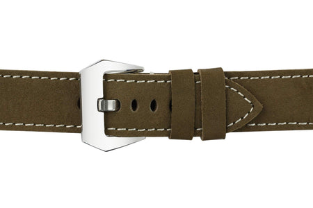 Watch Straps - Green Leather (Silver Buckle) (TWS001)