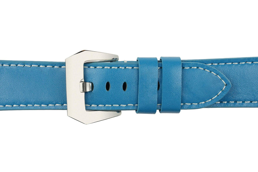 Light Blue Leather (Silver Buckle) (TWS001)