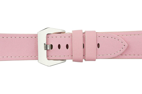 Watch Straps - Light Pink Leather (Silver Buckle) (TWS001)