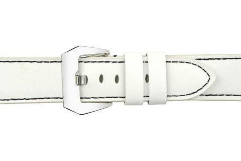 Watch Straps - White Leather (Silver Buckle) (TWS001)