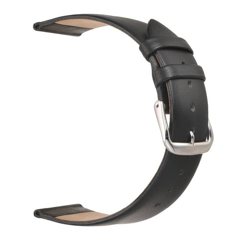 White / Pink / Brown / Black Leather Watch Band With Silver Buckle (TWS088)
