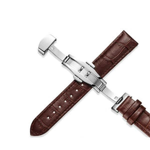 White / Red / Brown / Black Leather (Silver Clasp) (TWS017)