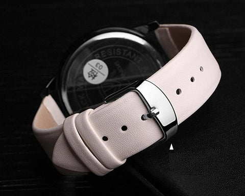 Image of White / Red / Pink / Blue / Purple / Brown / Black Leather (Silver Buckle) (TWS020)
