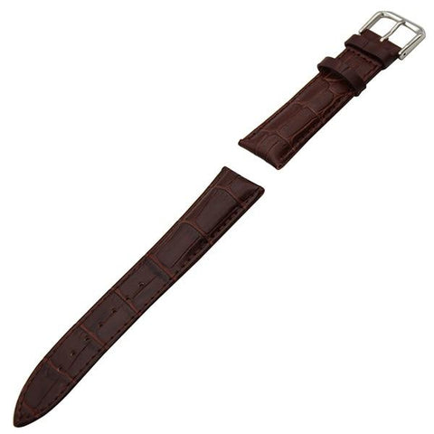White / Red / Pink / Blue / Purple / Green / Brown / Grey / Black Leather Watch Band With Silver Buckle (TWS043)