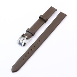 White / Red / Pink / Brown / Black Leather Band With Silver Buckle (TWS102)