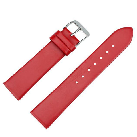 Image of White / Red / Pink / Brown / Black Leather Band With Silver Buckle (TWS112)