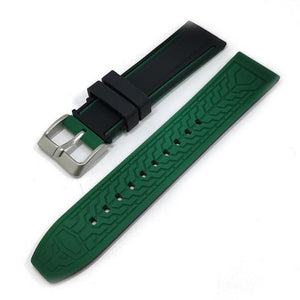 White / Yellow / Orange / Red / Blue / Green / Grey / Black Rubber Watch Band (TWS127)