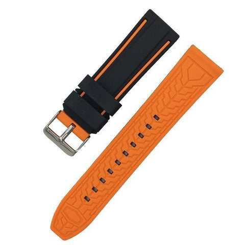 Image of White / Yellow / Orange / Red / Blue / Green / Grey / Black Rubber Watch Band (TWS127)