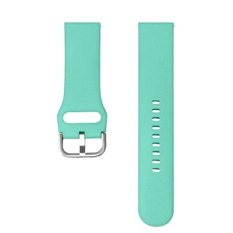 Image of White / Yellow / Orange / Red / Pink / Blue / Green / Cream / Grey / Black Rubber Watch Band (TWS154)