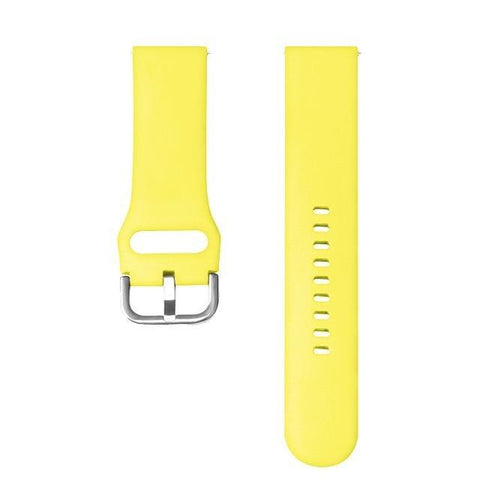 White / Yellow / Orange / Red / Pink / Blue / Green / Cream / Grey / Black Rubber Watch Band (TWS154)