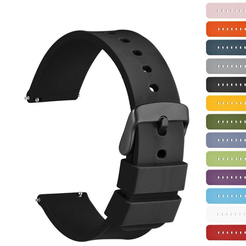 White / Yellow / Orange / Red / Pink / Blue / Purple / Green / Grey / Black Rubber (Black Buckle) (TWS019)