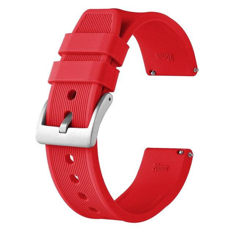 White / Yellow / Red / Pink / Blue / Green / Grey / Black Rubber (Silver Buckle) (TWS018)