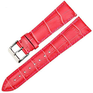 White / Yellow / Red / Pink / Blue / Purple / Green Leather (Silver Buckle) (TWS003)