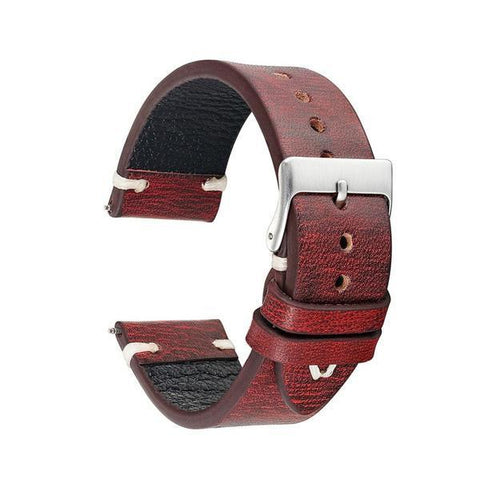 Image of Yellow / Orange / Red / Green / Brown / Black Cowhide Suede Leather Band With Silver Buckle (TWS142)