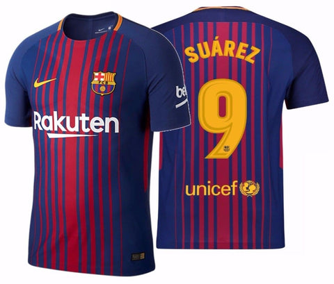NIKE LUIS SUAREZ FC BARCELONA AUTHENTIC VAPOR MATCH HOME JERSEY 2017/18.