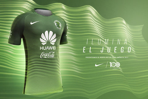 the best attitude 676bd 371ec NIKE CLUB AMERICA AUTHENTIC MATCH THIRD JERSEY 2017/18.