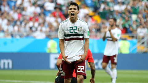 6cac8a63f70 ADIDAS HIRVING LOZANO MEXICO AUTHENTIC MATCH AWAY JERSEY WORLD CUP ...
