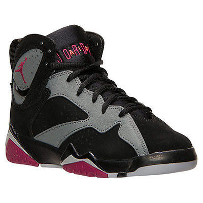 NIKE AIR JORDAN RETRO 7 BASKETBALL SHOES Black/Sport Fuchsia/Cool Grey