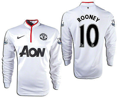 NIKE W. ROONEY MANCHESTER UNITED LS AWAY JERSEY 2012/13 BARCLAYS PREMIER LEAGUE.