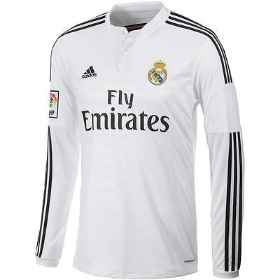 ADIDAS REAL MADRID LONG SLEEVE HOME JERSEY 2014/15.