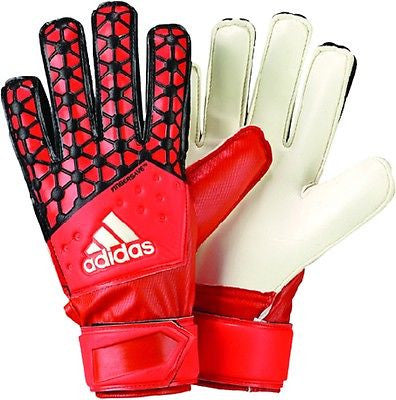 ADIDAS ACE FINGERSAVE JUNIOR GOALKEEPER GLOVES 2015 YOUTH SIZES Solar Red / Bold