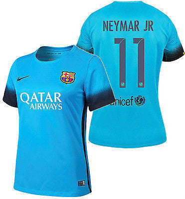 NIKE NEYMAR JR. FC BARCELONA WOMENS NIGHT RISING THIRD JERSEY 2015/16.