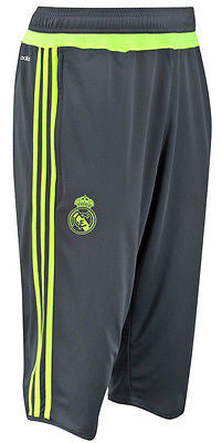 ADIDAS REAL MADRID 3/4 TRAINING PANTS 2015/16 LA LIGA SPAIN Deepest Space/Sola