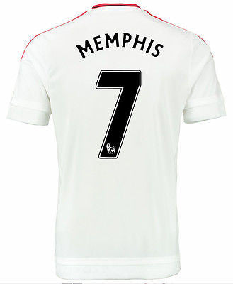 ADIDAS MEMPHIS MANCHESTER UNITED AWAY JERSEY 2015/16 BARCLAYS PREMIER LEAGUE.