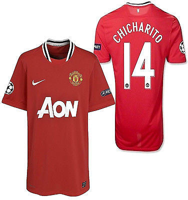 NIKE CHICHARITO MANCHESTER UNITED UEFA CHAMPIONS LEAGUE HOME JERSEY 2011/12