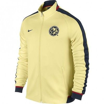 NIKE CLUB AMERICA AUTHENTIC N98 TRACK JACKET LEMON CHIFFON 1
