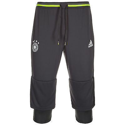 ADIDAS GERMANY EURO 2016 3/4 TRAINING PANT DEUTSCHER FUSSBALL BUND Grey