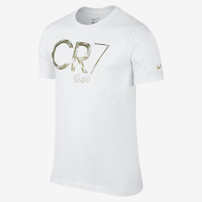 NIKE CR7 CRISTIANO RONALDO HERO TEE T-SHIRT 2014/15 WHITE/GOLD.