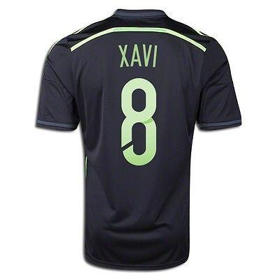 ADIDAS XAVI HERNANDEZ SPAIN AWAY JERSEY FIFA WORLD CUP BRAZIL 2014.
