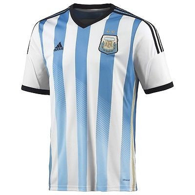 ADIDAS ARGENTINA AUTHENTIC HOME JERSEY FIFA WORLD CUP BRAZIL 2014 PLAYER VERSION