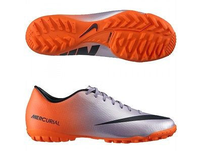 NIKE MERCURIAL VICTORY IV TF INDOOR SOCCER TURF FUTSAL CR7 SHOES Metallic Mach