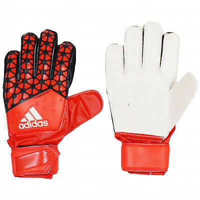low priced fa3c6 7bc45 ADIDAS ACE FINGERSAVE JUNIOR GOALKEEPER GLOVES YOUTH Solar Red / Bold