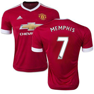 ADIDAS MEMPHIS DEPAY MANCHESTER UNITED HOME JERSEY 2015/16.