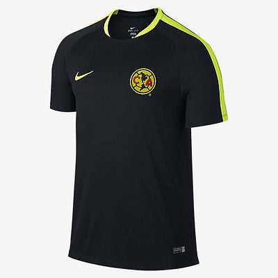 NIKE CLUB AMERICA FLASH TRAINING TOP 2015/16 Black/Volt