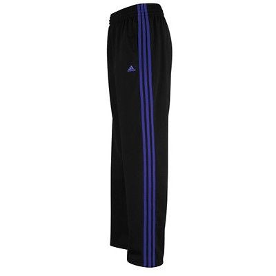 ADIDAS 3-STRIPES TRAINING PANT BLACK/PURPLE WOMENS SIZE.