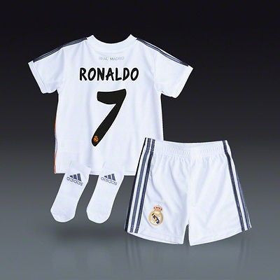 new style e1680 866dd ADIDAS CRISTIANO RONALDO REAL MADRID HOME MINI KIT 2013/14 TODDLER SIZE 2T