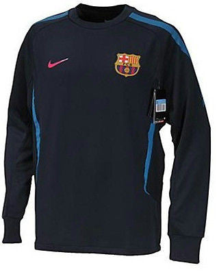 NIKE FC BARCELONA LONG SLEEVE  LIGHT WEIGHT TRAINING TOP Obsidian/Blue.