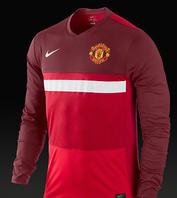 NIKE MANCHESTER UNITED LONG SLEEVE PRE MATCH TOP 2012 TEAM RED