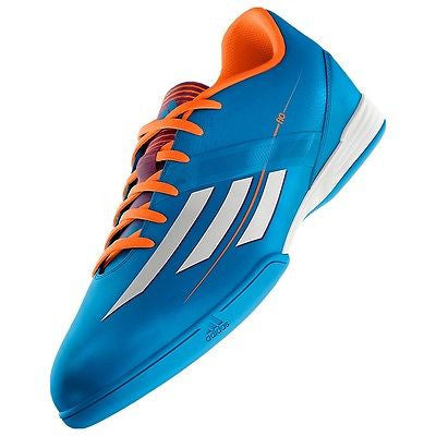 ADIDAS MESSI F10 IN INDOOR SOCCER SHOES FUTSAL SOLAR BLUE ASTROS.