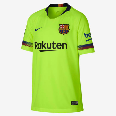 NIKE FC BARCELONA AWAY YOUTH JERSEY 2018/19.