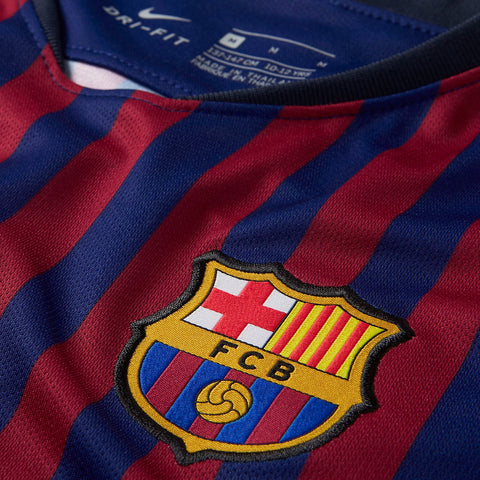 NIKE ANDRES INIESTA FC BARCELONA HOME JERSEY 2018 19 ... bc0a47420