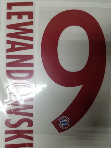 ROBERT LEWANDOWSKI AUTHENTIC PLAYER NAME SET BAYERN MUNICH AWAY 2015/16 1