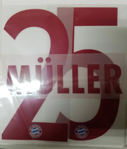 THOMAS MULLER AUTHENTIC PLAYER NAME SET BAYERN MUNICH AWAY 2015/16 1