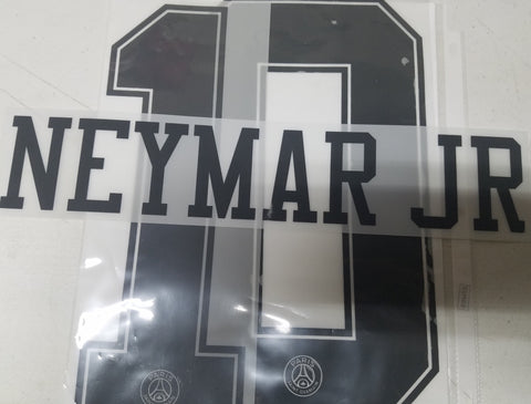 NEYMAR JR AUTHENTIC PLAYER NAME SET PSG PARIS SAINT-GERMAIN AWAY UEFA CHAMPIONS LEAGUE 2018/19 1