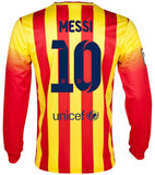 NIKE LIONEL MESSI FC BARCELONA LONG SLEEVE AWAY JERSEY 2013/14 1