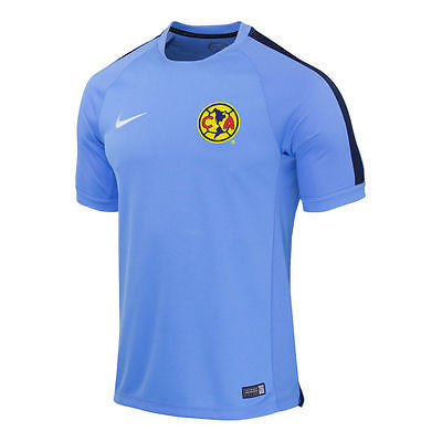 NIKE CLUB AMERICA SQUAD TRAINING TOP Light Blue/Obsidian.